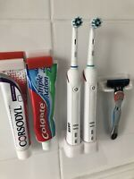 Toothbrush Stand Holder Wall Mounted Two 2 Oral B Electric Toothbrushes UK Made