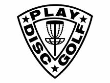 Disc Golf Vinyl Sticker Decal Play Disc Golf Shield