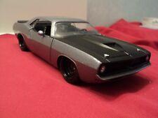 "Jada 1973 Plymouth Barracuda ""cuda""1:24 Scale new no box 2016 charcoal gray"