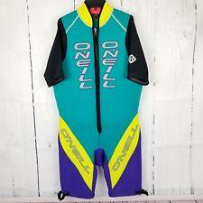 Vtg Oneil Womens Bullet Wetsuit Size XL Colorblock Purple/Yellow 18 Meter