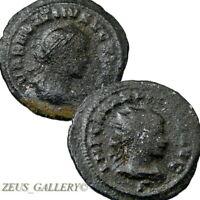 VABALATHUS / AURELIAN Double Portrait Coin Ancient Roman Empire Antoninianus