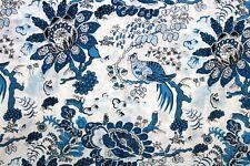 Indian Bird Print Pure Cotton Screen Printing Fabric Hand Block Fabric By Yard