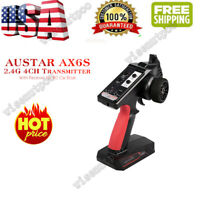 US AX6S 2.4G 4CH Transmitter Radio Remote ControlW/Receiver for RC Car Boat F0B6