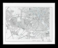 Texas Map - San Antonio Plan - Lackland Air Force Base - Alamo Heights Bexar Co.
