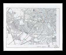 Texas Map - San Antonio Plan - Lackland Air Force Base - Alamo Heights Bexar Co.