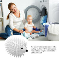 Hedgehog Dryer Balls Fabric Washing Softener Reusable Kits Sweater Skirt HF