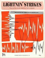 Lou Christie Lightnin' Strikes Vintage Sheet Music Classic 1965 Pop Rock Hit