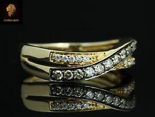 NEW Levian 14K gold, Chocolate & Vanilla diamonds Criss Cross Luxury Ring