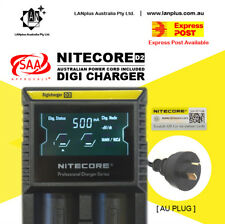 Nitecore D2 Digicharger LCD Smart Battery Charger Li-ion 10440 RCR123 17500 NiMh