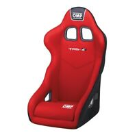 FIA OMP TRS-E RED RACE RALLY BUCKET SEAT Steel Frame Velour CHEAP DELIVERY