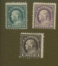 Scott 511, 517, and 518 Washington Franklin Mint