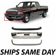 NEW Front Bumper Combo Kit Bundle For 1994-2001 Dodge Ram Truck 1500 2500 3500
