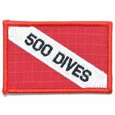 500 Dives - Diver Down Scuba Flag - 2x3 Patch