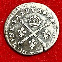 #5224 - Louis XIV 10 sols aux insignes 1705 TB+ Décentré belle qualité - FACTURE