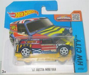 Hot Wheels - 67 Austin Mini Van - Blue (2015)