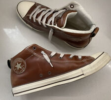 Converse Chuck Taylor All Star Leather Brown Hi Top Sneakers Men's Size 11