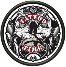 TATTOO TIME Wall Clock ink shop tattoos gun artist