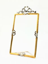 """Square silver photo frame """"Bow"""""""