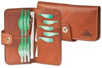 Woodland® Leder Brieftasche aus naturbelassenem Büffelleder in Braun OIL PULL-UP