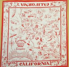 California Picture Map *Bento Japanese Multi-Cloth 52cm /RAGUBIW