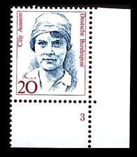 BUND Frauen   20 Pf** posfrisch, Mi. 1365, Eckrand u.r. Formnummer 3