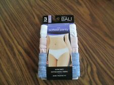 New Beauty by Bali 3 Pack Ultra Soft Cotton Modal Bikini Tagless Size XL NIP