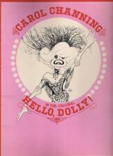 "Carol Channing  ""Hello, Dolly!"" Souvenir Program  TOUR 1982  Hirschfeld Drawings"