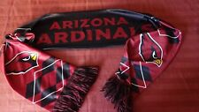 "ARIZONA CARDINALS NFL Neck Scarf  Red & Black Silky Reversible 7"" X 62""     B"