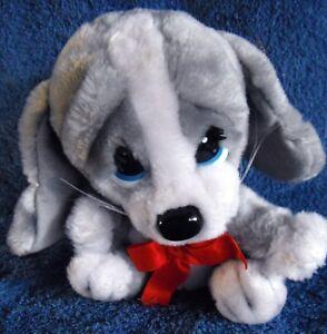 *1820c*  Christmas Honey puppy dog - plush - APPLAUSE 1986  #21031 - vintage