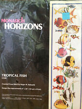 Monarch Horizons Cross Stitch Kit Tropical Fish CS34 Wall Hanging 6 X 24 NEW NIP