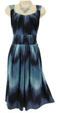 18W 2X SEXY Womens BLUE PLEATED OMBRE SUMMER DRESS Wedding Cruise PLUS SIZE