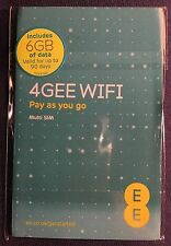 EE 4G 6GB Super Fast WiFi Internet Multi SIM iPad/Tablet/Dongle/MiFi. Nano/Micro
