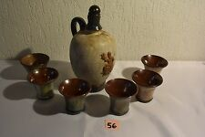C56 Ensemble cruche et gobelet Maitre Potier DUBOIS poterie