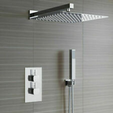 Concealed Shower Mixer Thermostatic Valve 300mm Over Head with Rail Bathroom Set