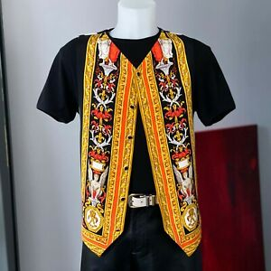 GIANNI VERSACE silk vest Versace Tapestry print size IT 52 from fw 1992/93