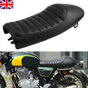 Vintage Motorcycle Cafe Racer Seat Flat Brat Hump Saddle For Honda Yamaha Suzuki