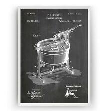 Washing Machine 1887 Patent Print - Poster Art Laundry Room Decor - Unframed