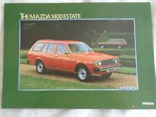 Mazda 1400 Estate brochure Dec 1980