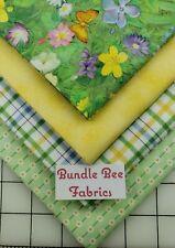 Fat Quarter bundle lot of (4) new Honey Bunny Garden Michael Miller % cotton