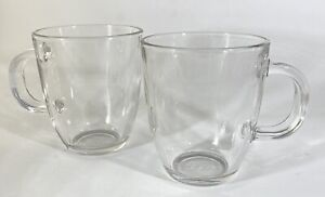 Bodum Clear 12-ounce Mugs Tempered Glass Set of 2