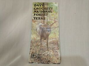 USDA Forest Service Topographical Map DAVY CROCKETT NATIONAL FOREST Texas 1983