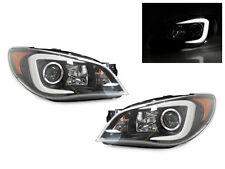 WRX Look C LED Light Bar JDM Black Projector Headlight 06-07 Subaru Impreza