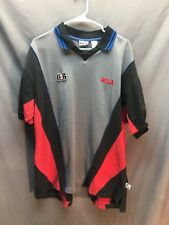 Fila Mens Polo Shirt Size Lg Red Black Gray 041