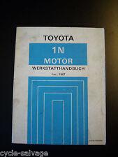 Toyota Werkstatthandbuch Motor 1N 1987 Starlet NP70 Reparaturanleitung Handbuch