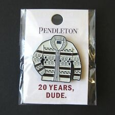 Pendleton Big Lebowski Westerley Sweater Pin 20th Anniversary The Dude Bridges