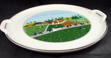 "Villeroy Boch DESIGN NAIF 12"" Handled Cake Plate Wedding Procession A+ SHOWROOM"