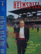 Programm BL 1995/96 SC Freiburg - Eintracht Frankfurt
