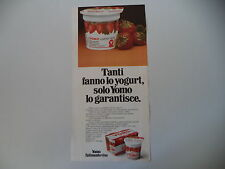 advertising Pubblicità 1972 YOGURT YOMO