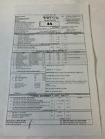 2011 ABC tv show BODY OF PROOF set used CALL SHEET~Season 2, Episode 11