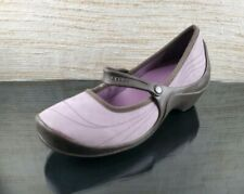 CROCS Casey Womens Sz 9 Ligth Purple Mary Jane Croslite Wedge Clogs Shoes EUC